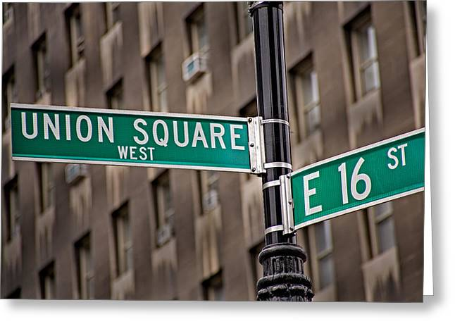 Union Square Photographs Greeting Cards - Union Square West I Greeting Card by Susan Candelario