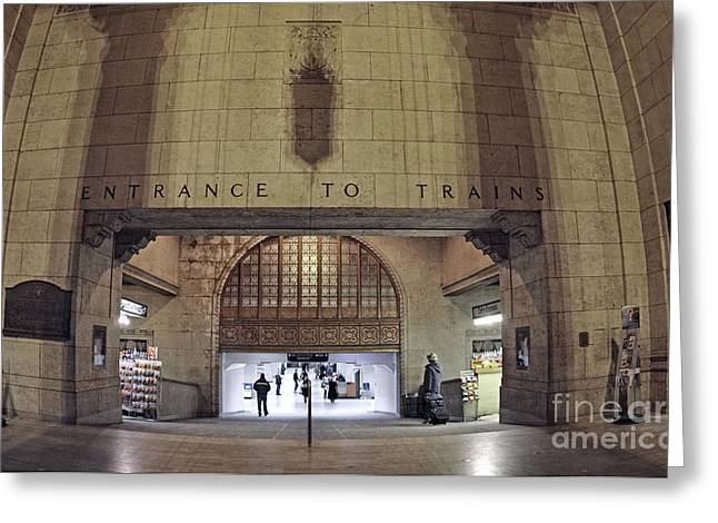 Union Station Lobby Greeting Cards - Union Station 2008 Greeting Card by Charline Xia