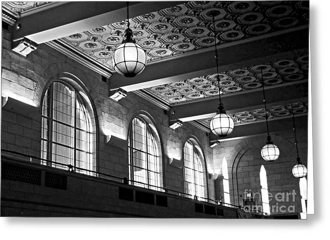 Union Connecticut Greeting Cards - Union Station Balcony - New Haven Greeting Card by James Aiken