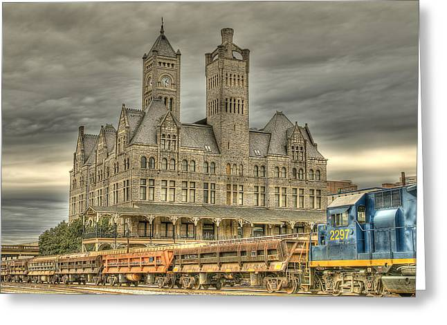 Union Station Greeting Card by Brett Engle