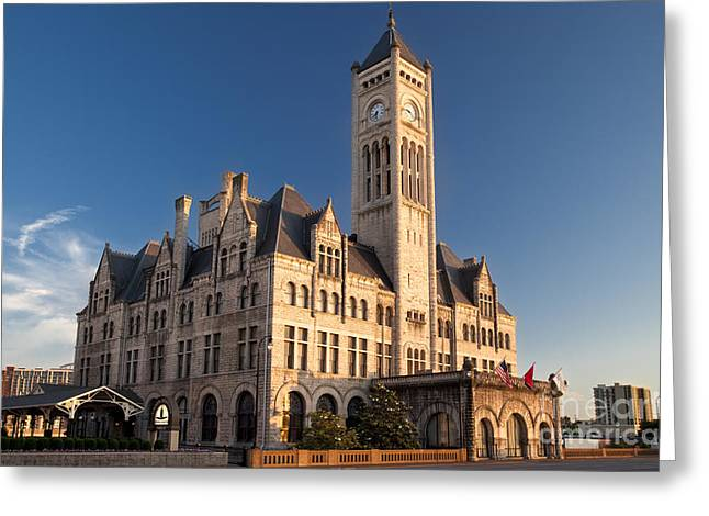 Nashville Tennessee Greeting Cards - Union Station Greeting Card by Brian Jannsen