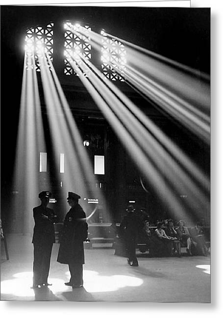 Police Officer Greeting Cards - Union Station Chicago Greeting Card by Jack Delano