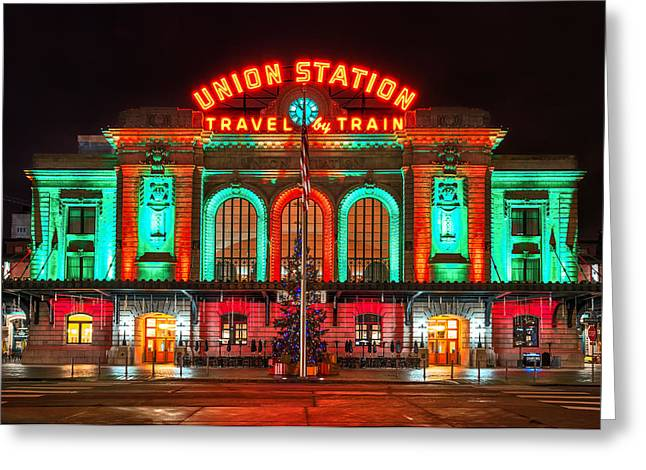 Christmas Art Greeting Cards - Union Station  Greeting Card by Darren  White