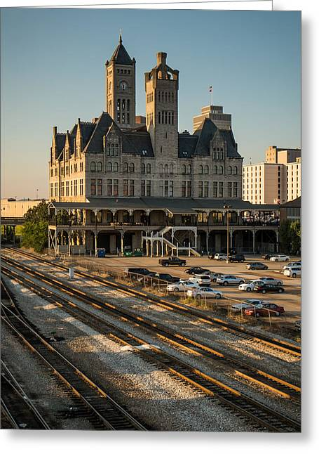 Tennessee Landmark Greeting Cards - Union Station Hotel Greeting Card by Glenn DiPaola