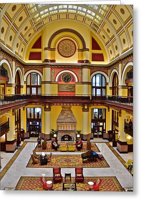 Nashville Greeting Cards - Union Station Hotel Lobby Greeting Card by Frozen in Time Fine Art Photography