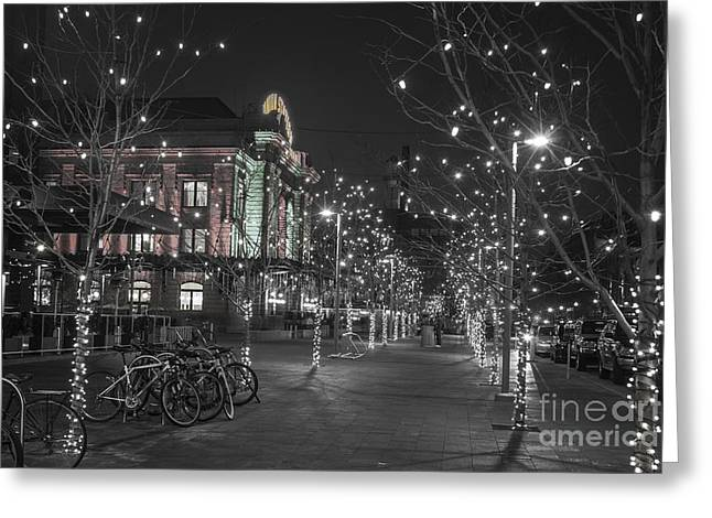 Bare Trees Greeting Cards - Union Station in the Winter Greeting Card by Juli Scalzi