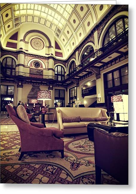 Union Station Lobby Greeting Card by Dan Sproul