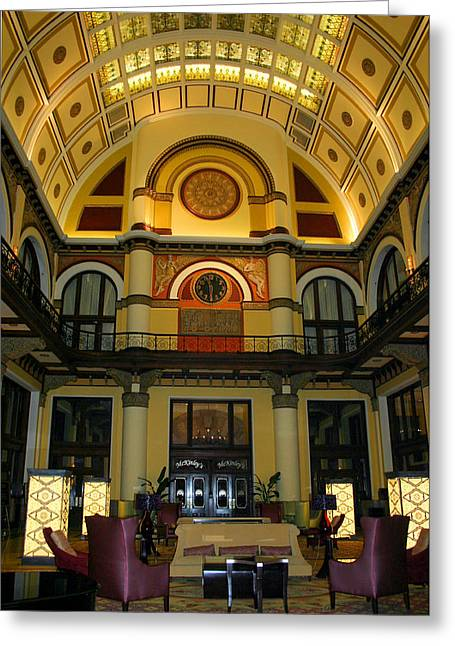 Union Station Lobby-large Size Greeting Card by Kristin Elmquist