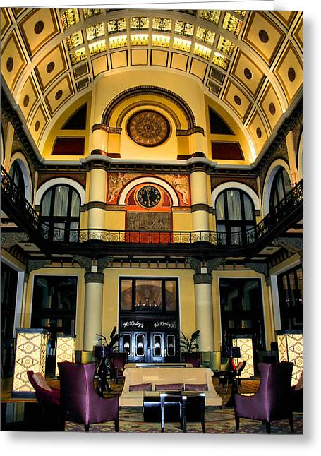 Union Station Lobby Greeting Cards - Union Station Lobby Larger Greeting Card by Kristin Elmquist