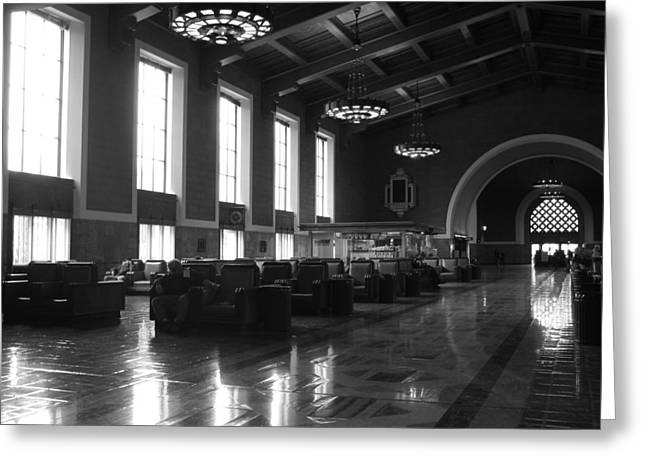 Union Station Los Angeles Greeting Card by Jim McCullaugh