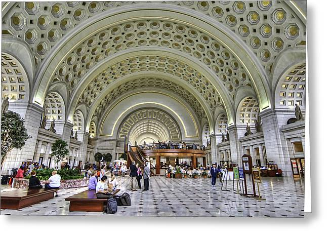 Union Station Greeting Card by Tim Stanley