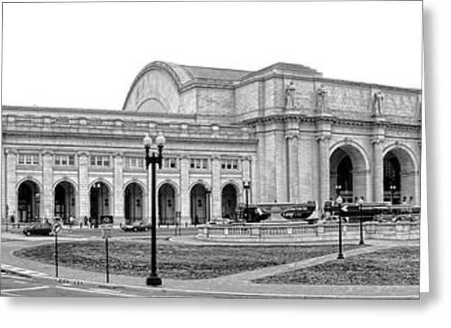 Traffic Greeting Cards - Union Station Washington DC Greeting Card by Olivier Le Queinec