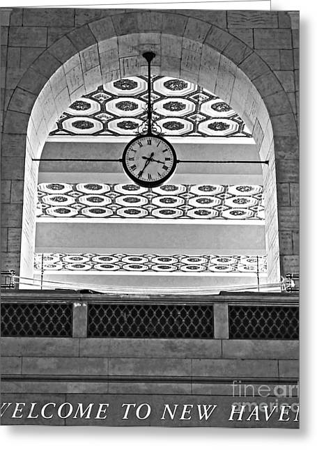 Union Connecticut Greeting Cards - Union Station Welcome - New Haven Greeting Card by James Aiken