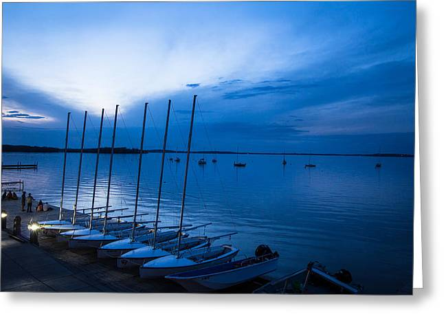Lake Mendota Greeting Cards - Union Sunset Greeting Card by Gregory Payne