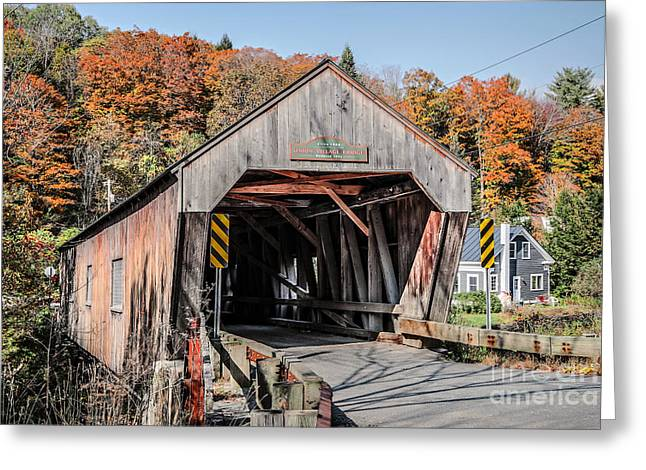 Union Village Covered Bridge Thetford Vermont Greeting Card by Edward Fielding