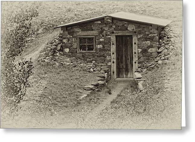 Small House Greeting Cards - Unionville Cabin Greeting Card by Kurt Golgart