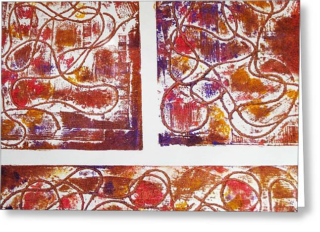 Print Reliefs Greeting Cards - Unique Abstract II Greeting Card by Yael VanGruber