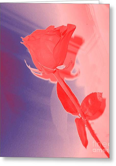 Enhanced Greeting Cards - Unique Abstract Rose  Greeting Card by Minding My  Visions by Adri and Ray