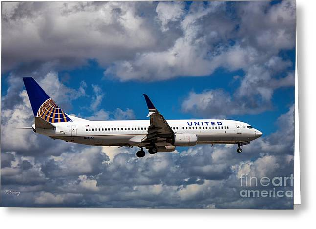 Rene Triay Photography Greeting Cards - United Airlines Boeing 737 NG Greeting Card by Rene Triay Photography