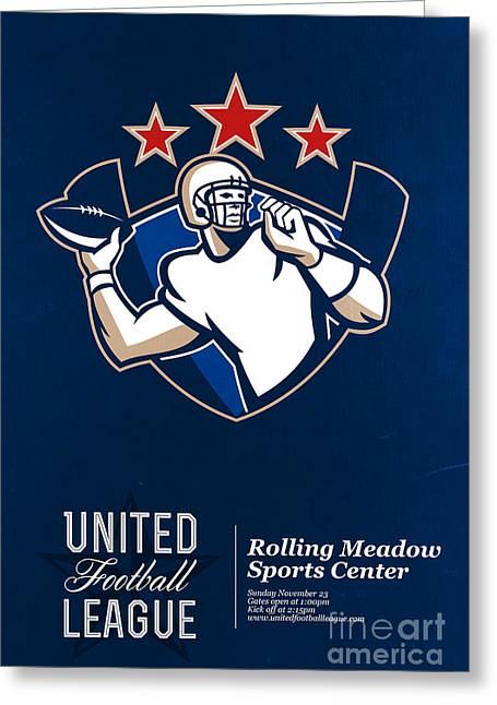 American League Greeting Cards - United Gridiron Football League Poster Greeting Card by Aloysius Patrimonio