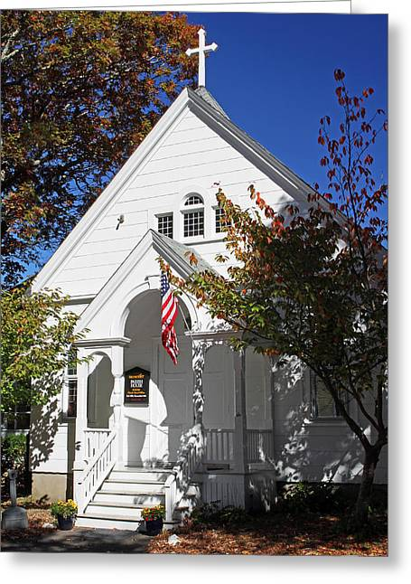 United Methodist Parish House Greeting Card by Juergen Roth