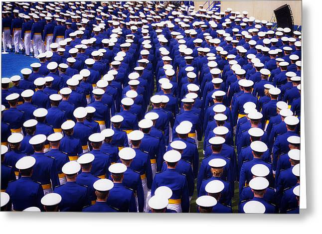 Colorado State University Greeting Cards - United States Air Force Academy Graduation 2013 Greeting Card by Mountain Dreams