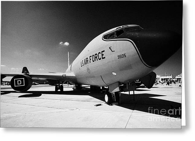 Fixed-wing Greeting Cards - United States Air Force KC135R Stratotanker kc 135 kc135 Greeting Card by Joe Fox