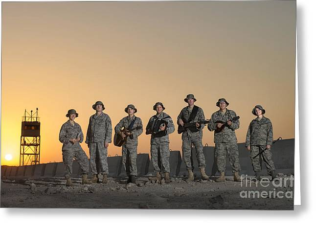 Real People Greeting Cards - United States Air Forces Central Band Greeting Card by Stocktrek Images