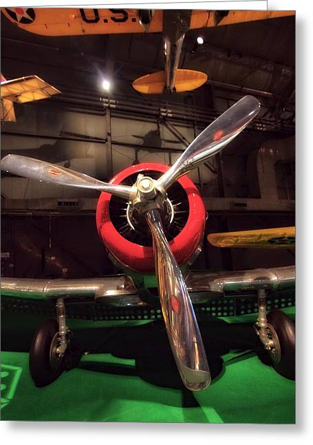 Military Airplanes Greeting Cards - United States Airplane Museum Greeting Card by Dan Sproul
