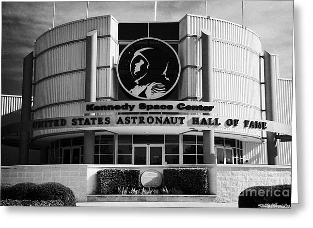 Kennedy Space Center Greeting Cards - united states astronaut hall of fame Kennedy Space Center Florida USA Greeting Card by Joe Fox