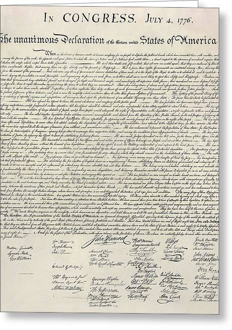United States Bill Of Rights Greeting Card by Charles Beeler