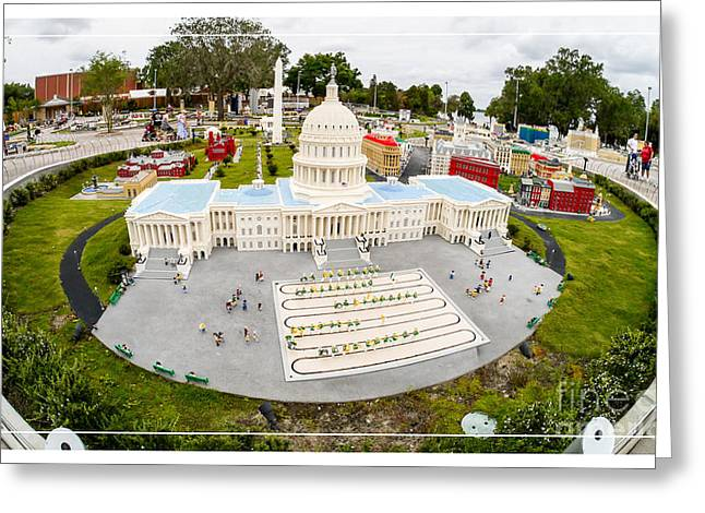 Amusements Greeting Cards - United States Capital Building at Legoland Greeting Card by Edward Fielding