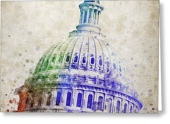 United States Capitol Dome Greeting Card by Aged Pixel