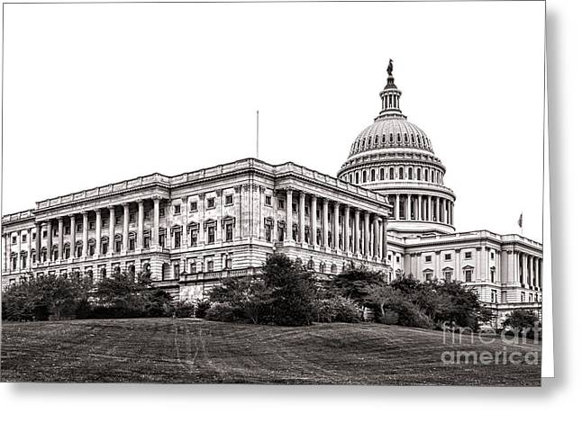 United States Capitol Greeting Cards - United States Capitol Senate Wing Greeting Card by Olivier Le Queinec
