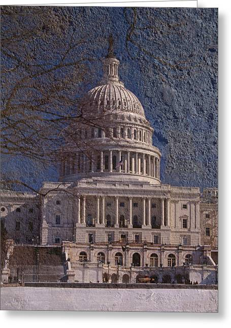 Seat Of Power Greeting Cards - United States Capitol Greeting Card by Skip Willits