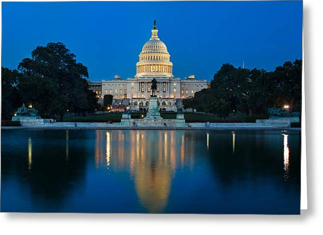 United States Capitol Greeting Card by Steve Gadomski