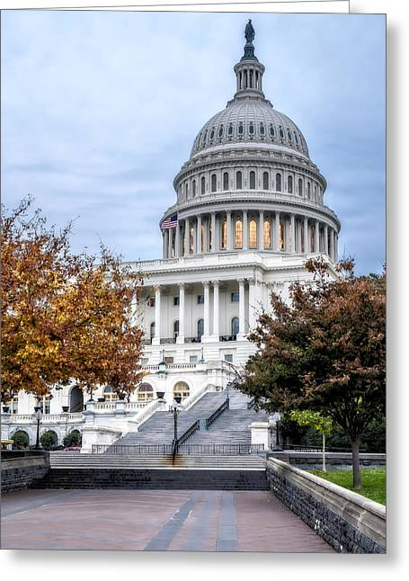 U.s. Capitol Greeting Cards - United States Capitol Greeting Card by Susan Candelario