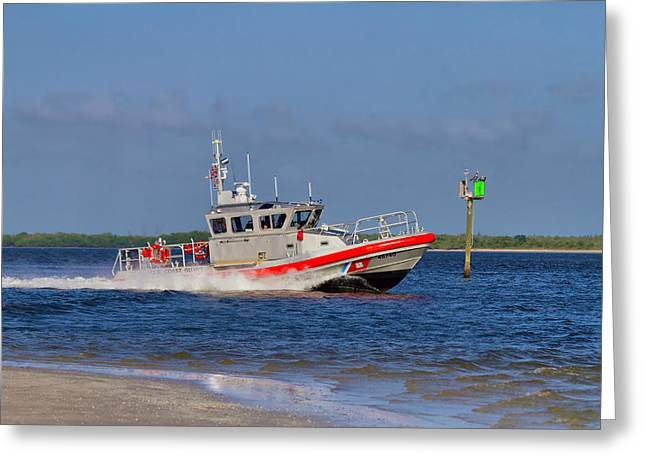 United States Coast Guard Greeting Card by Kim Hojnacki