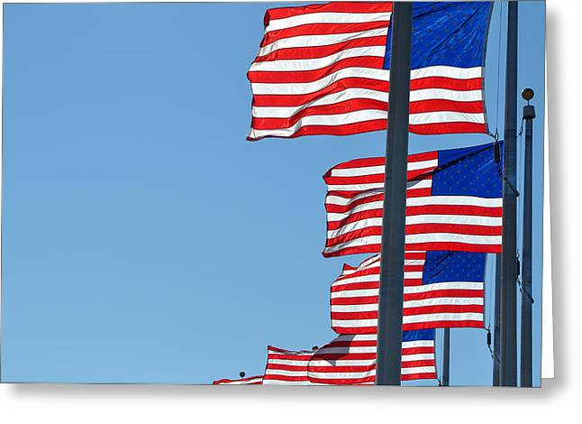 4th July Photographs Greeting Cards - United States Flag Greeting Card by Brandon Bourdages