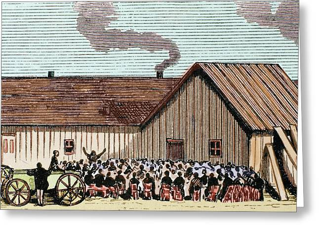 United States Kansas Mennonite Greeting Card by Prisma Archivo