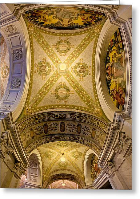Library Of Congress Greeting Cards - United States Library Of Congress Greeting Card by Susan Candelario
