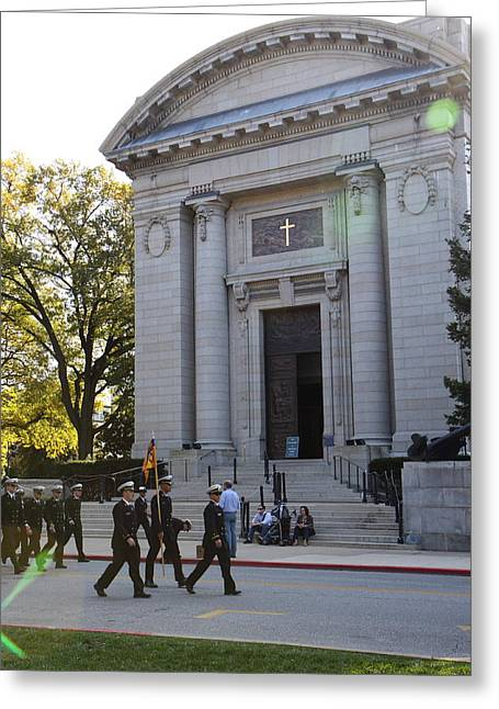 Annapolis Greeting Cards - United States Naval Academy in Annapolis MD - 121236 Greeting Card by DC Photographer
