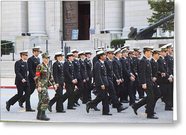Sail Greeting Cards - United States Naval Academy in Annapolis MD - 121239 Greeting Card by DC Photographer