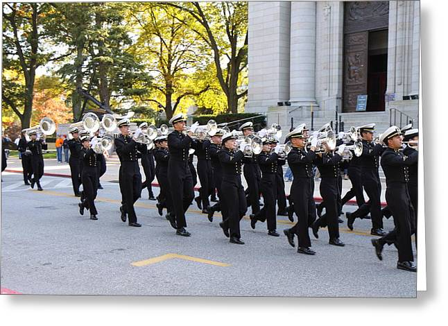 Academy Greeting Cards - United States Naval Academy in Annapolis MD - 121245 Greeting Card by DC Photographer