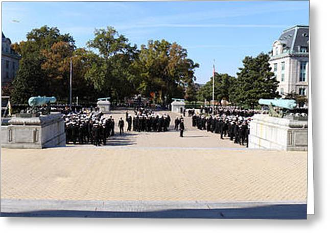 State Photographs Greeting Cards - United States Naval Academy in Annapolis MD - 121278 Greeting Card by DC Photographer