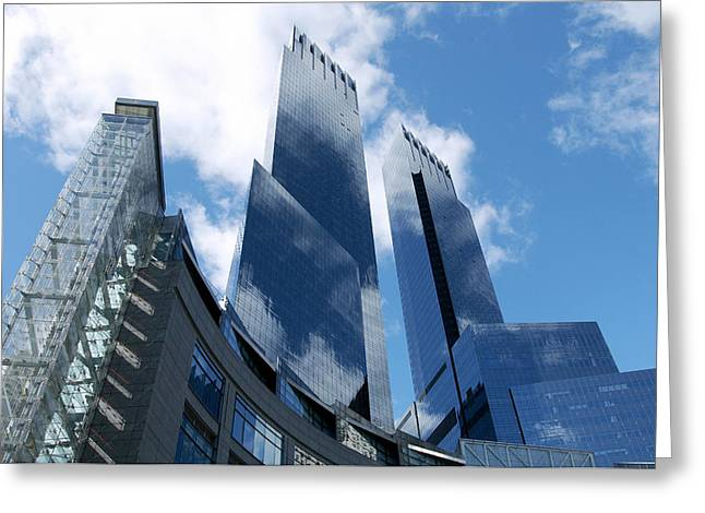 Enterprise Greeting Cards - United States, New York, Skyscrapers Greeting Card by Tips Images