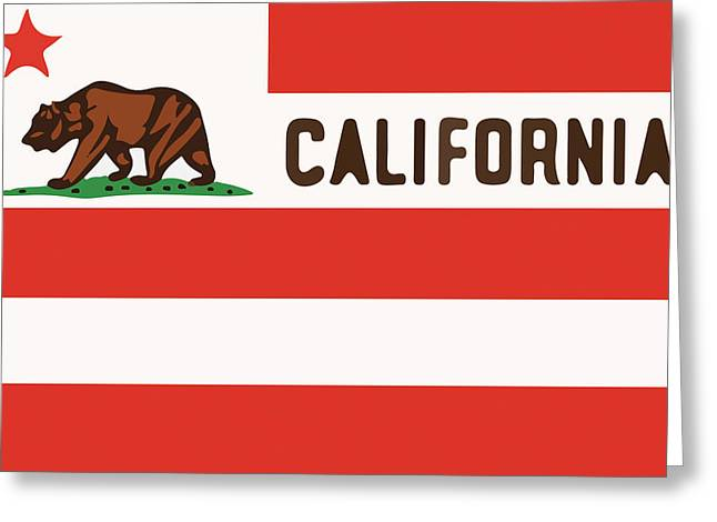 Usc Greeting Cards - United States of California Flag Greeting Card by Jera Sky