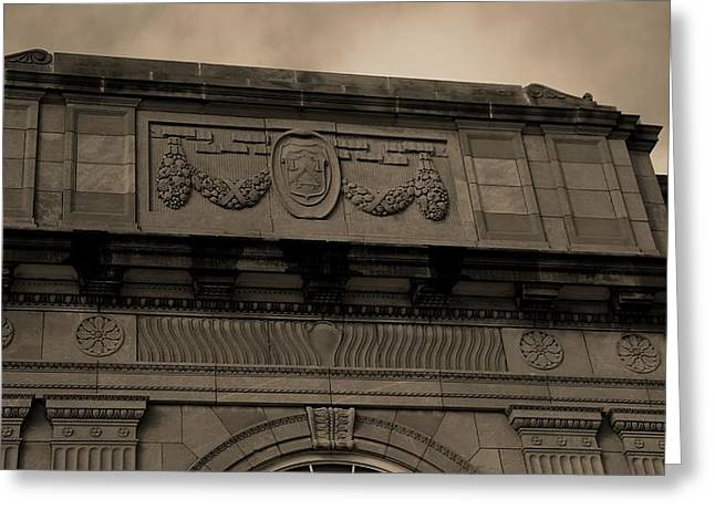 Postal Greeting Cards - United States Postal Service Historical Building Greeting Card by Dan Sproul