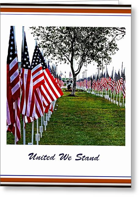 4th July Digital Art Greeting Cards - United We Stand Greeting Card by Ella Kaye Dickey