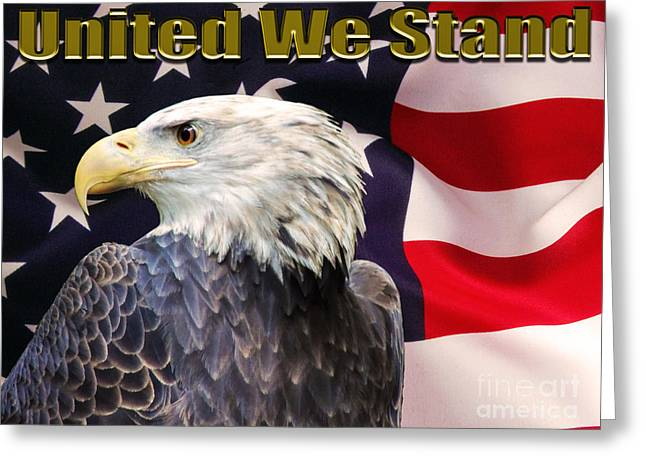 Liberal Greeting Cards - United We Stand Greeting Card by Mim White